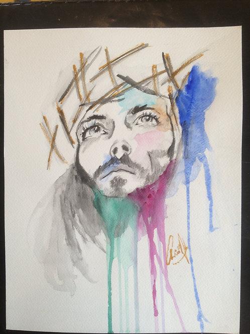 Aquarelle 030 Jesus