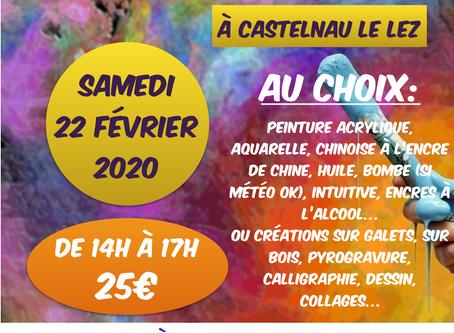 """Ateliers Créatifs """"Un temps pour Soi"""" samedi 22 février"""
