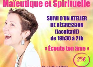 """Jeud'Hypnose du 18 juin : Conférence suivi d'un atelier de régression """"Écoute ton âme&q"""