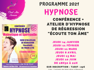 """Conférences et Ateliers """"Écoute ton âme"""" : Programme 2021✨"""