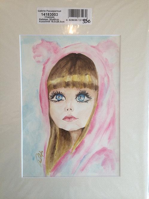 Aquarelle 052 Petite fille