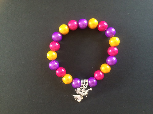 "Bracelet Miracle ""Violet, jaune et fushia"""