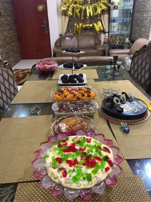 Delicious sweet items for birthday party