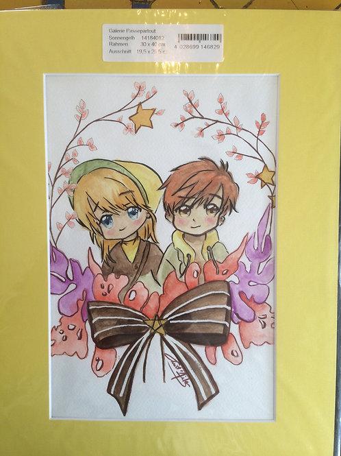 Aquarelle 034 couple manga