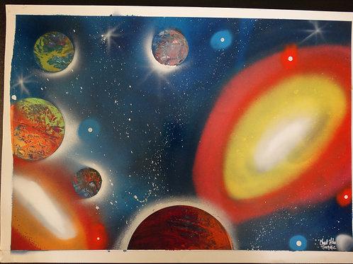 "Peinture bombe ""Univers N°1"""