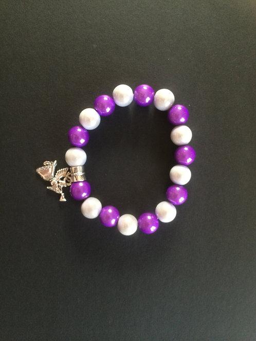"""Bracelet Miracle """"Violet et blanc"""""""