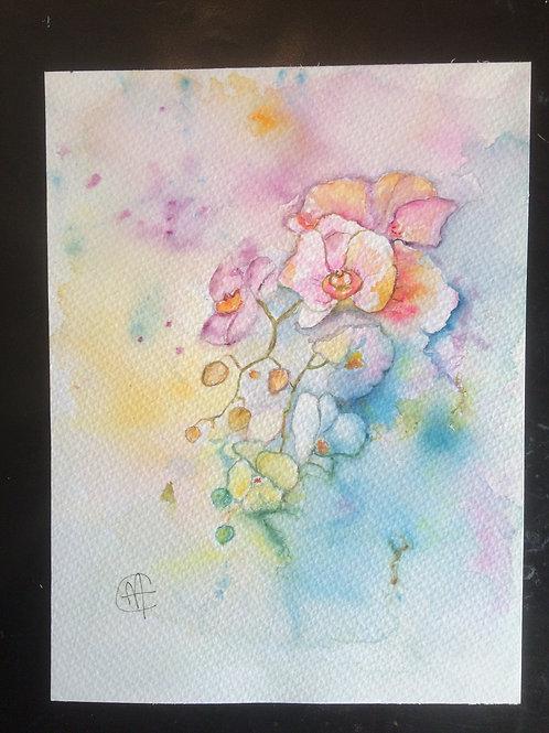 Aquarelle 082 MH fleurs multicolores