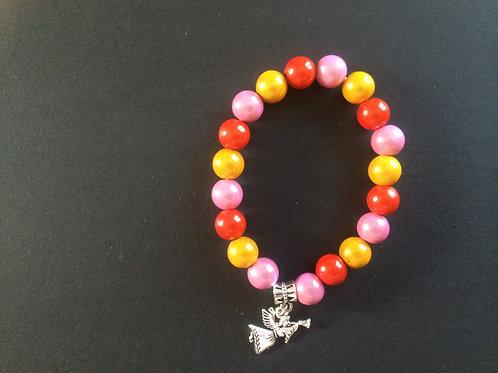 "Bracelet Miracle ""Jaune, rose et orange"""