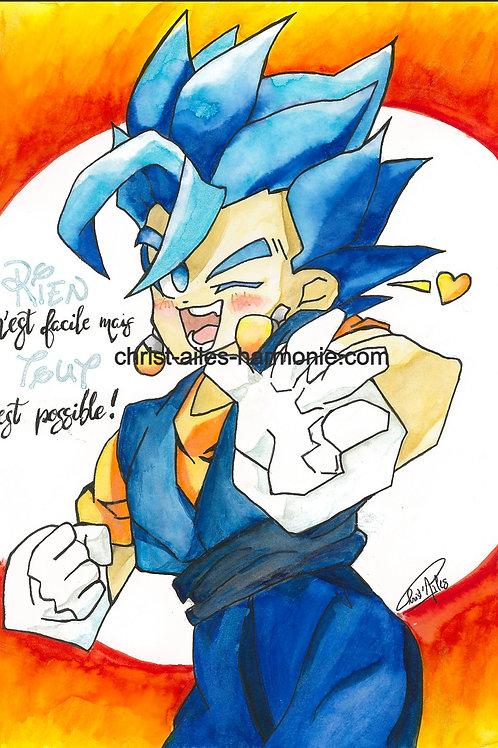 077 DragonBall cheveux bleus citation