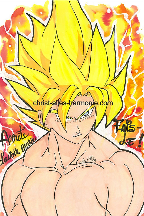 078 DragonBall cheveux jaunes citation