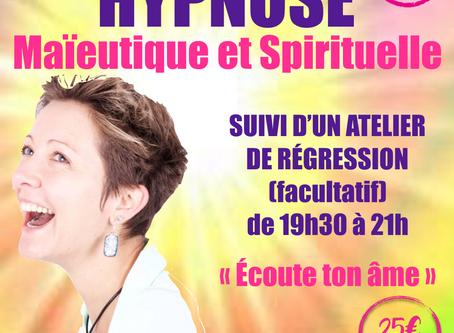 """Jeud'Hypnose du 16 janvier : Conférence suivi d'un atelier de régression """"Écoute ton âm"""