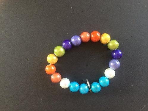 """Bracelet Miracle """"Arc en ciel de couleurs N°1"""""""