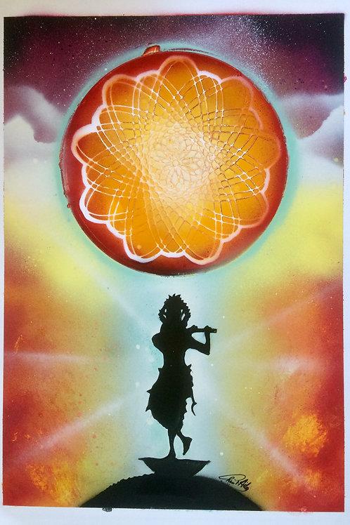 "Peinture bombe ""Krishna"""