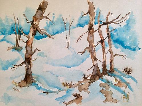 Aquarelle 008 Sous la neige