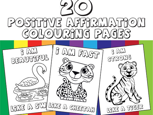 20 Positive Affirmation Colouring Pages For Kids | Positive Kids | Children's Co