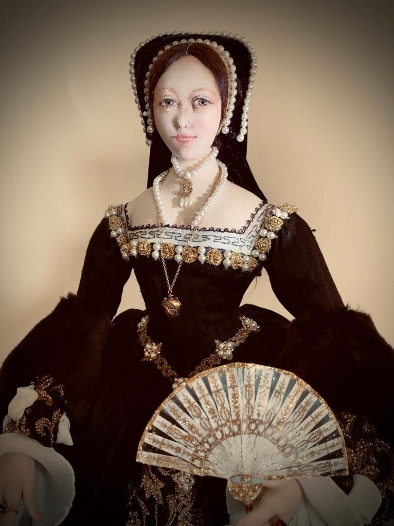 Anne Boleyn fan portrait