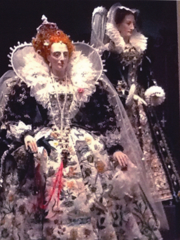 Elizabeth I and Mary Queen of Scots on display at the National Museum of Scotland 'Mary.Queen of Scots' exhibition.