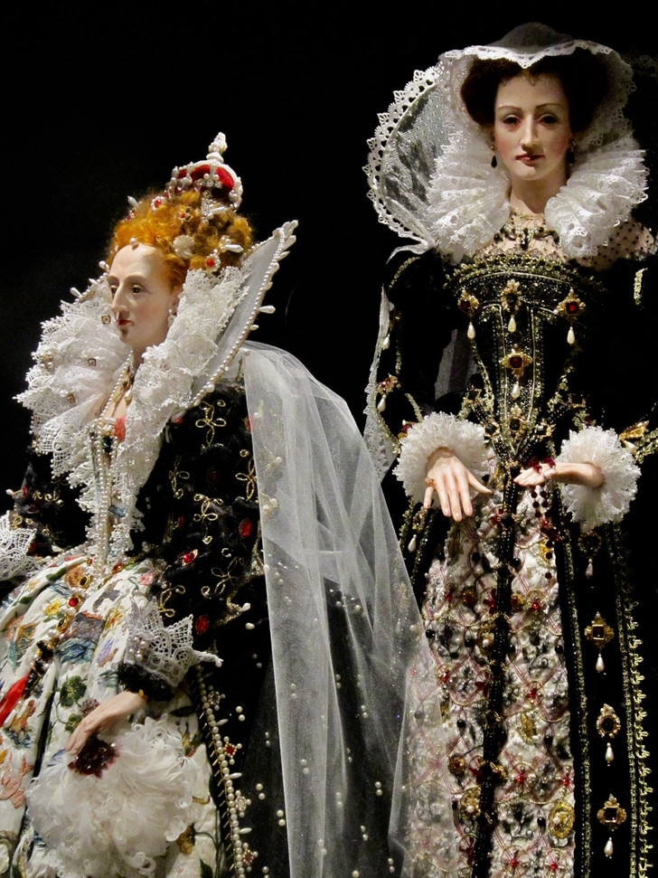 Elizabeth & Mary, Queen of Scots on display at the National Museum of Scotland