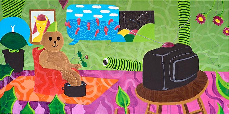 """""""Berlin bear""""/ Acrylic Paint /70 x 1.20 cm"""