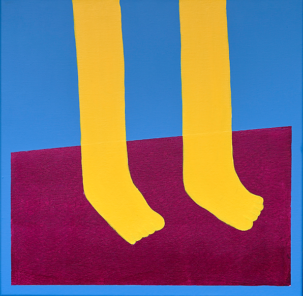 """Legs on the carpet"" / Acrylic Paint / 70 x 70 cm"
