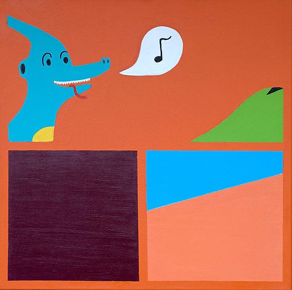 """""""Landescape 2"""" / Acrylic Paint / 100 x 100 cm"""