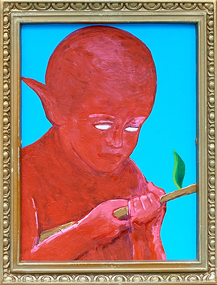 """The son of the devil"" / Acrylic Paint  / 30 x 25 cm"