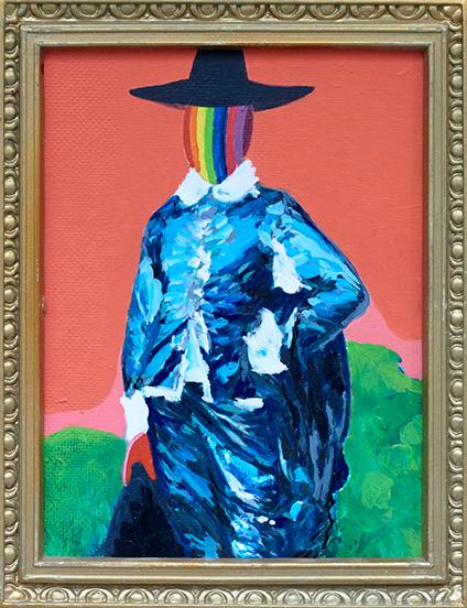 """""""Rainbow face"""" / Acrylic Paint / 30 x 25 cm"""