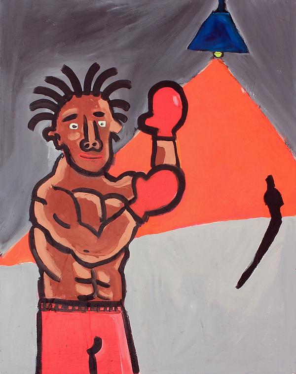 """""""The Boxer"""" / Acrylic Paint / 1.50 x 200 cm"""
