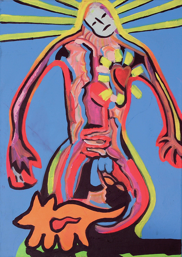 """Human"" / Acrylic Paint / 100 x 80 cm"