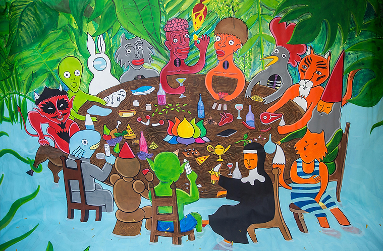 """""""The JungleSupper"""" / Acrylic Paint / 200 x 300 cm"""