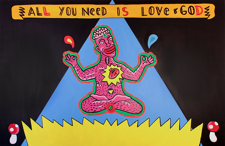 """""""All you need is love"""" / Acrylic Paint / 1.50 x 200 cm"""