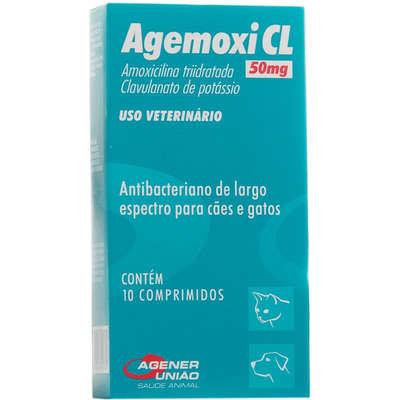 Antibiótico Agener União Agemoxi CL 10 comprimidos - 50mg
