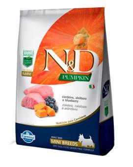 N&D Pumpkin para Cães Adultos Raças Mini sabor Cordeiro e Abóbora - 2,5kg
