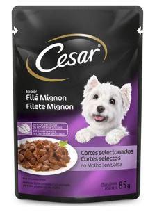 Alimento Úmido Sachê Cesar Cães Adultos Filé Mignon 85g