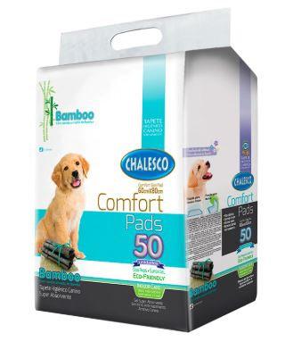 Tapete Higiênico para Cães Confort Bamboo Chalesco 60x80cm - 50unds