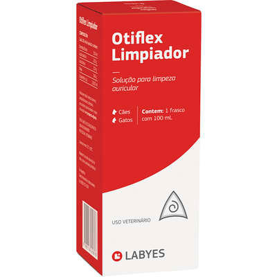 Limpador Auditivo Labyes Otiflex para Cães e Gatos - 100ml