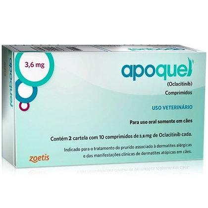 indica Apoquel DERMATOLÓGICO Zoets Para CÃES 20 Comprimidos 3,6MG