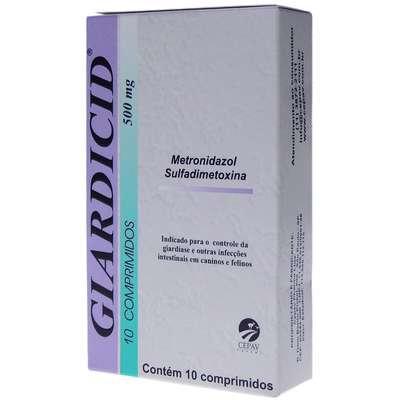 Antibiótico Giardicid 500 mg - 10comp