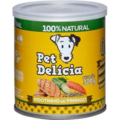 Ração Úmida Pet Delícia Natural Risotinho de Frango Fácil Digestão - 320g