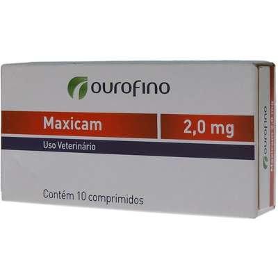 Anti-inflamatório Ourofino Maxicam - 10 Comprimidos / 2mg