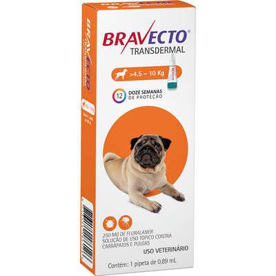 Antipulgas e Carrapatos Bravecto Transdermal para Cães de 4,5 a 10 Kg