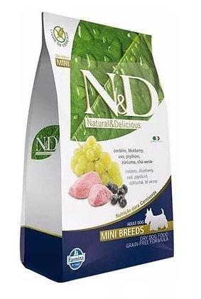 N&D Grain Free Cães Adultos Raças Pequenas Cordeiro 2,5kg