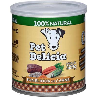 Ração Úmida Pet Delícia Natural Panelinha de Carne - 320g