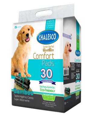 Tapete Higiênico para Cães Confort Bamboo Chalesco 60x80cm - 30und