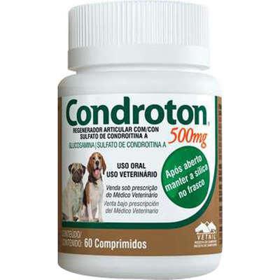 Regenerador Articular Vetnil Condroton 60 Comprimidos - 500mg