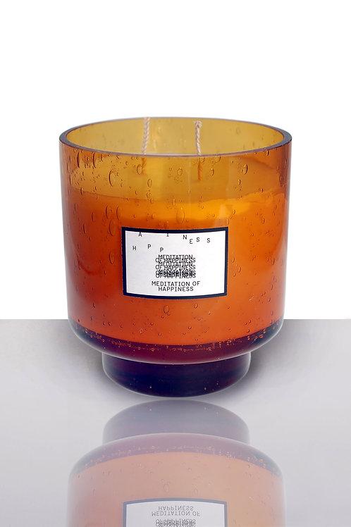 A:NOTE LABORATORY | Large Handmade Amber Glass Jar [18OZ]