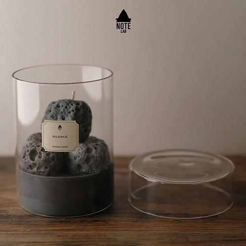 A:NOTE LABORATORY | Black Volcanic Stone  Candle | 黑火山石香薰蠟燭
