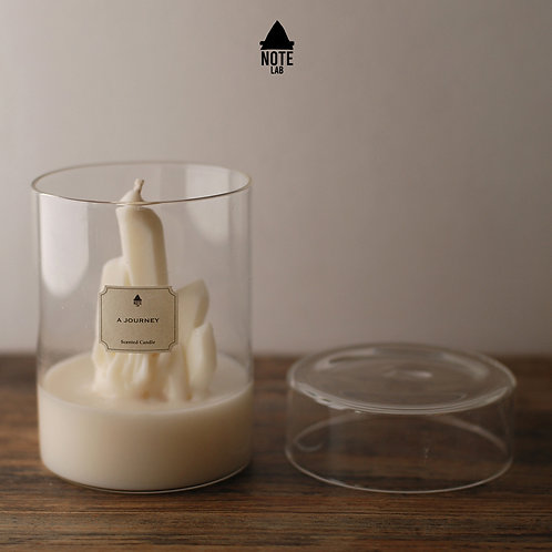 A:NOTE LABORATORY   Crystal Cluster Scented Candle   白水晶柱香薰蠟燭