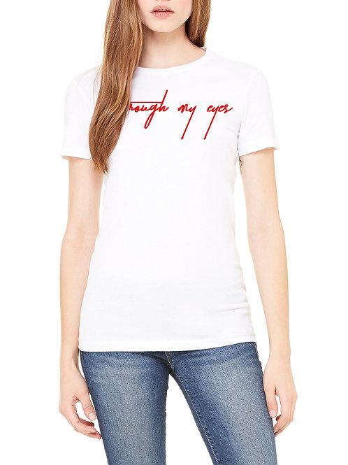 Through my eyes White Shirt (Girls)