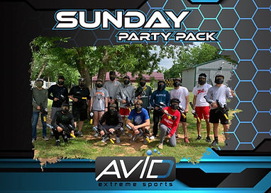 Sunday paintball package